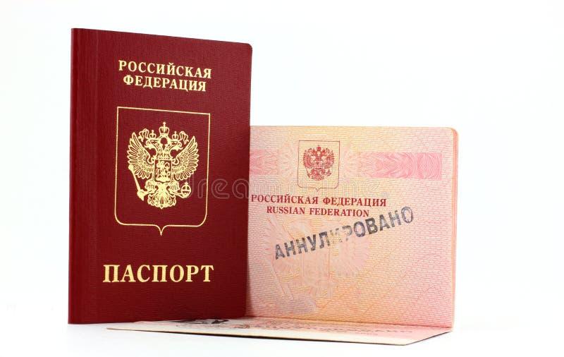 Rosyjski paszport anulujący obrazy royalty free
