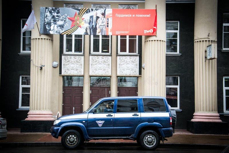 Rosyjski samochód w dworcu zdjęcia stock