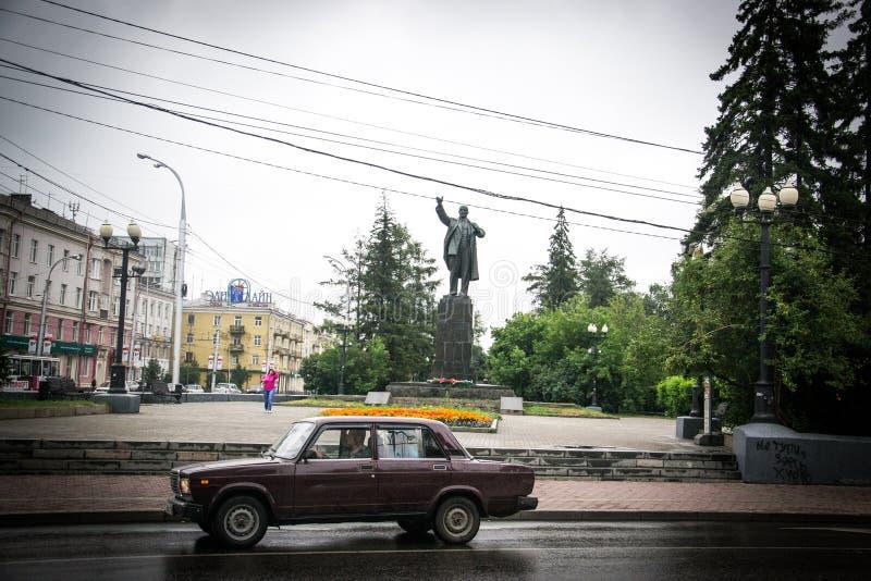 Rosyjski samochód w dworcu fotografia royalty free