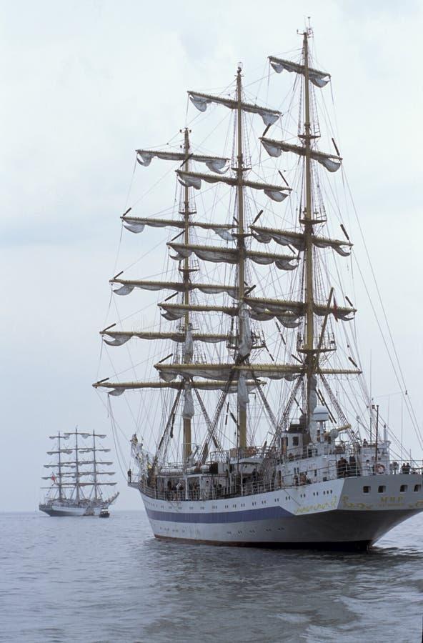 Rosyjski stażowy sailship Mir stern widok obrazy royalty free