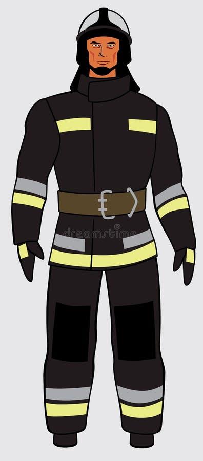 Rosyjski strażak Długa postać royalty ilustracja