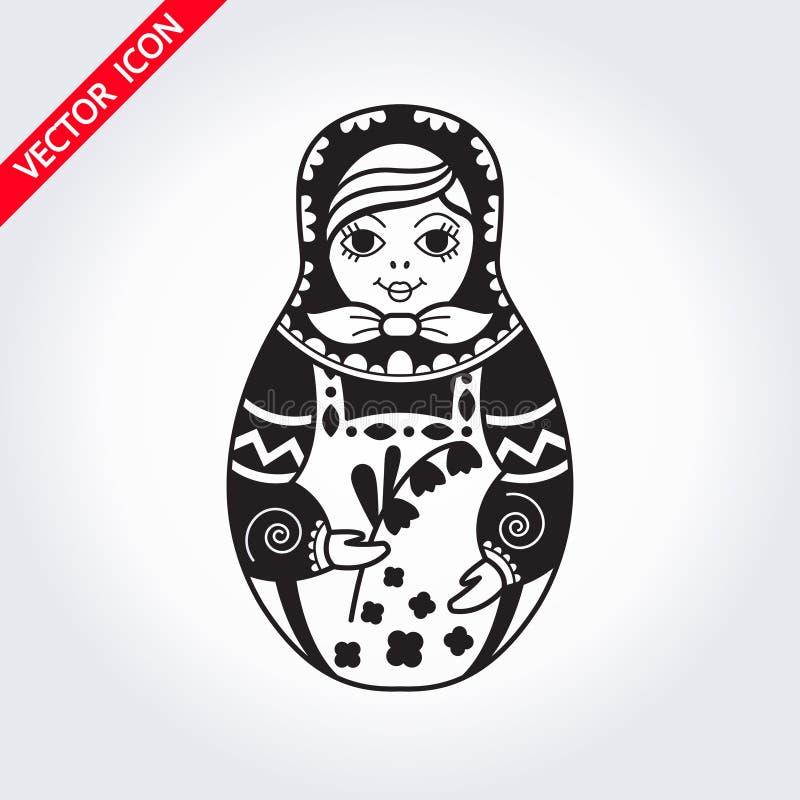 Rosyjski tradycyjny gniazdujący lali matryoshka symbol rosji royalty ilustracja