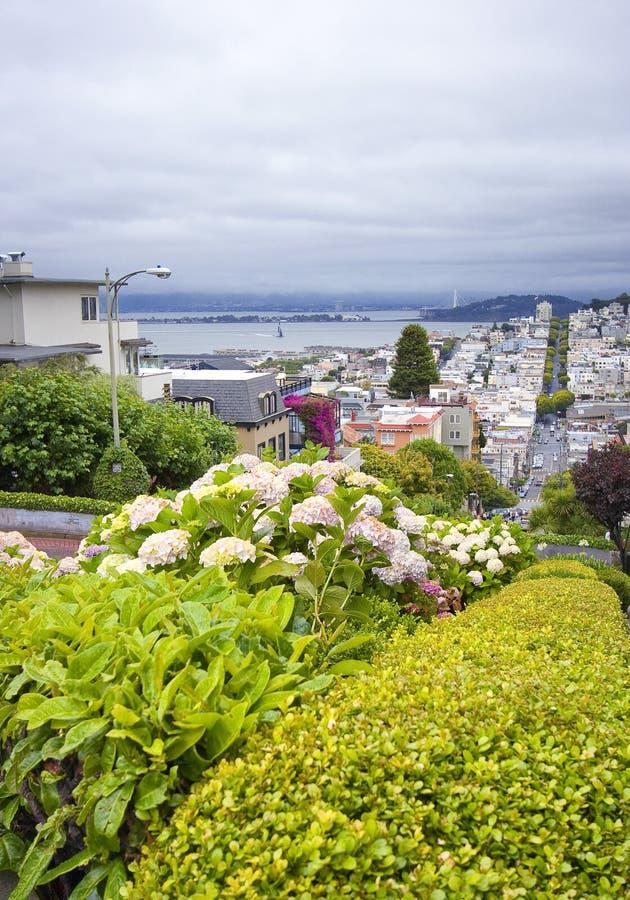Rosyjski wzgórze na lombard ulicie, San Fransisco, Kalifornia - usa fotografia royalty free