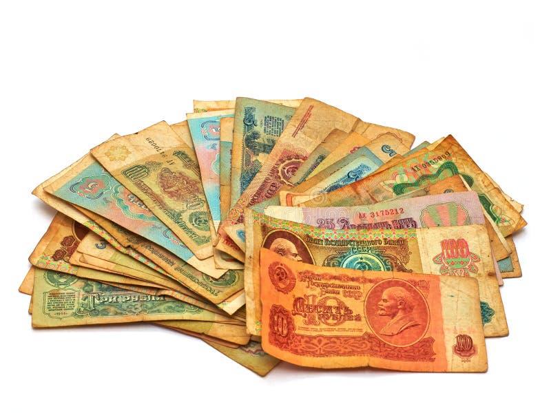 rosyjskie pieniądze tła stary radziecki zdjęcie stock