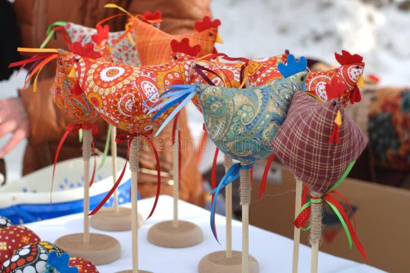 Rosyjskie tkanin zabawki zdjęcia stock