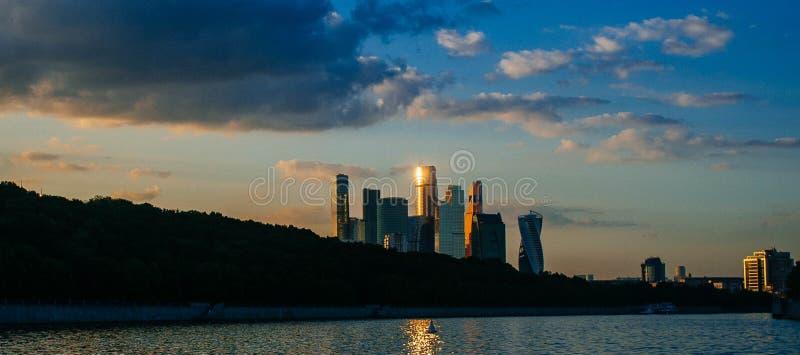 Rosyjskiego kraju ojczystego - Moskwa śródmieście w zmierzchu obrazy royalty free