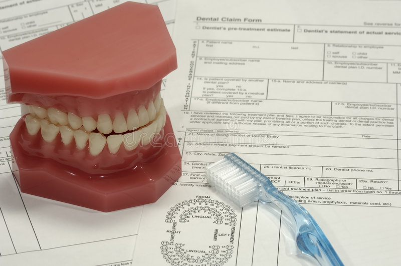 roszczenie dentystycznego zdjęcia stock