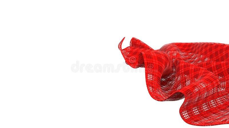 Rot überprüfte Serviette stock abbildung