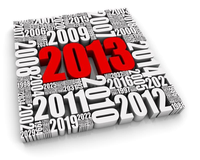 Rot 2013 lizenzfreie abbildung