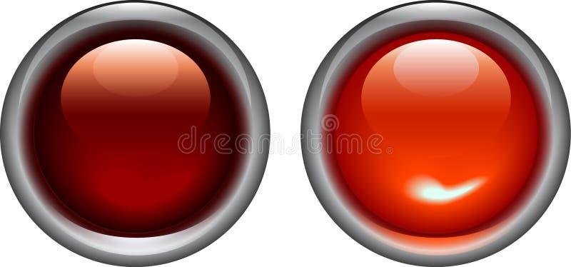 Rot auf und weg von Leuchten vektor abbildung