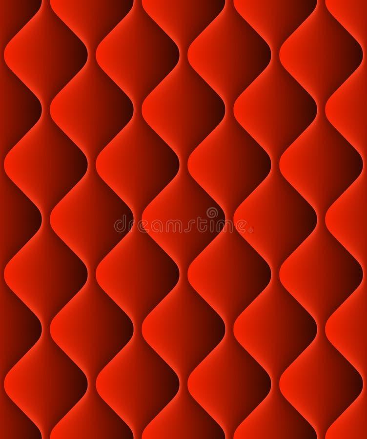 Rot aufgefüllte nahtlose Musterbeschaffenheit der Polsterung Vektor ENV 10 vektor abbildung