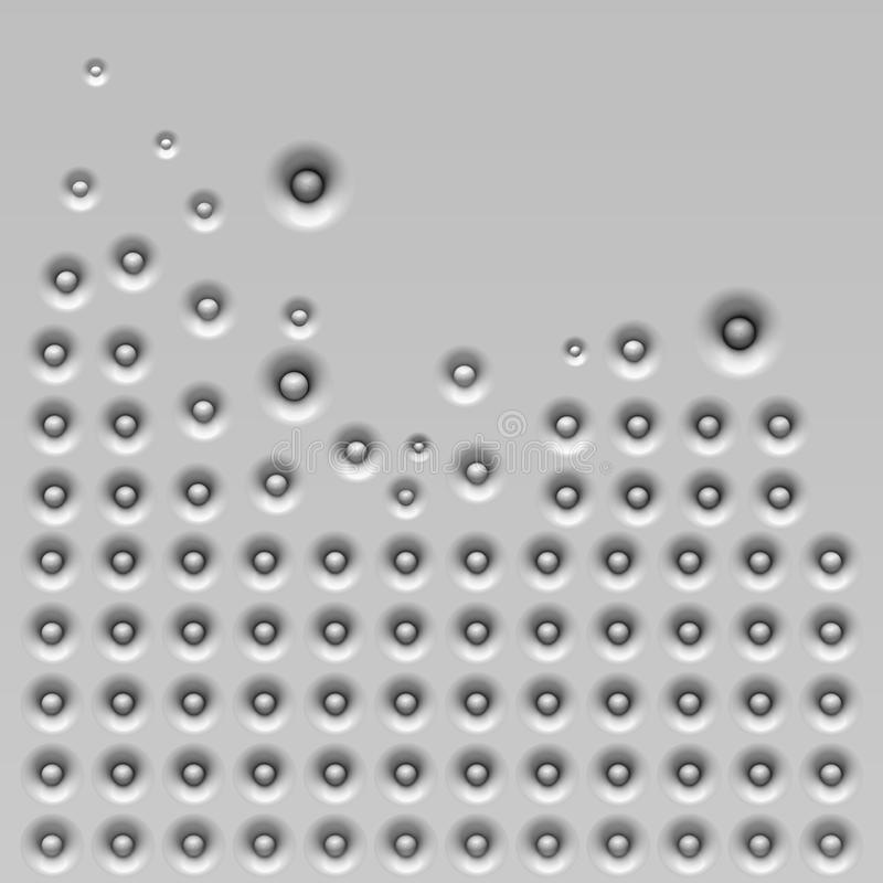 Rot bewegt in die Wand wellenartig vektor abbildung