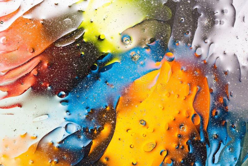 Rot, blau, weiß, Orange, schwarzer, gelber bunter abstrakter Entwurf, Beschaffenheit Schöne Hintergründe stock abbildung
