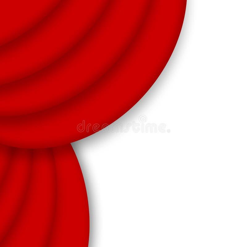 Rot drapieren Trennvorhang lizenzfreie abbildung