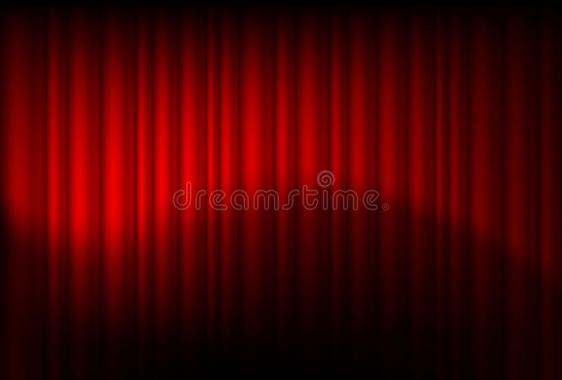 Rot drapiert reflektiert stock abbildung