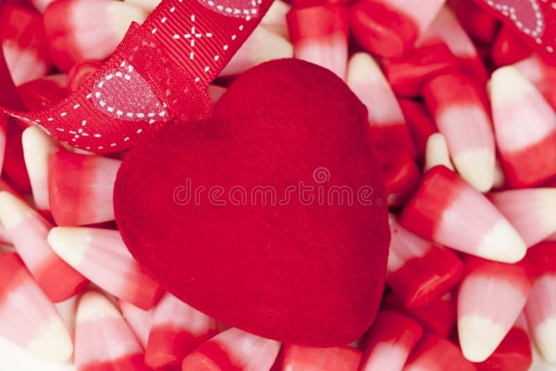 Rot-Filz-Inneres, Valentinstag lizenzfreie stockfotos