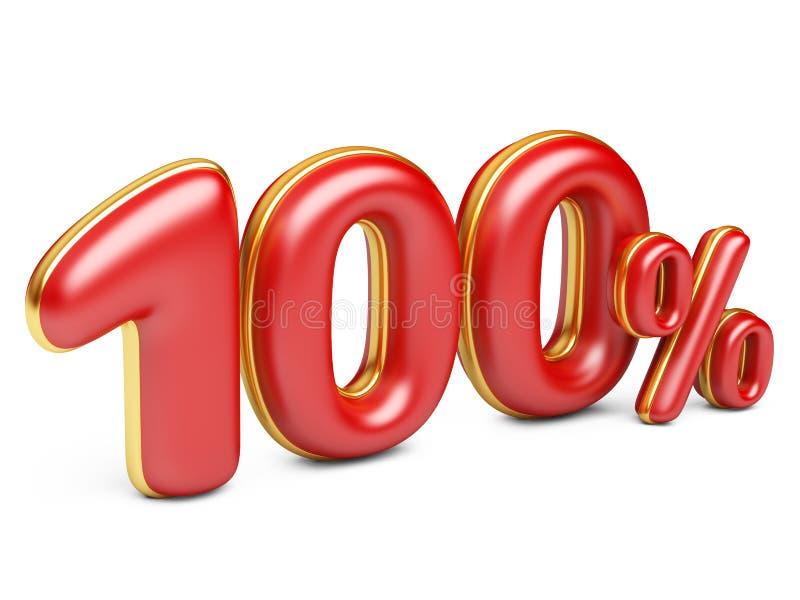 Rot hundert Prozent stock abbildung