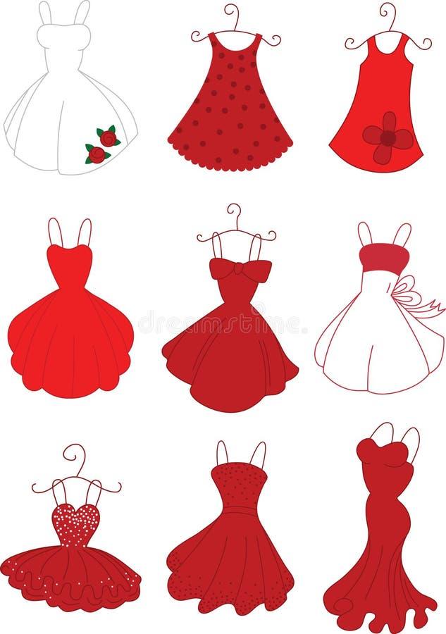 Download Rot-Kleider vektor abbildung. Illustration von kleid - 27729992