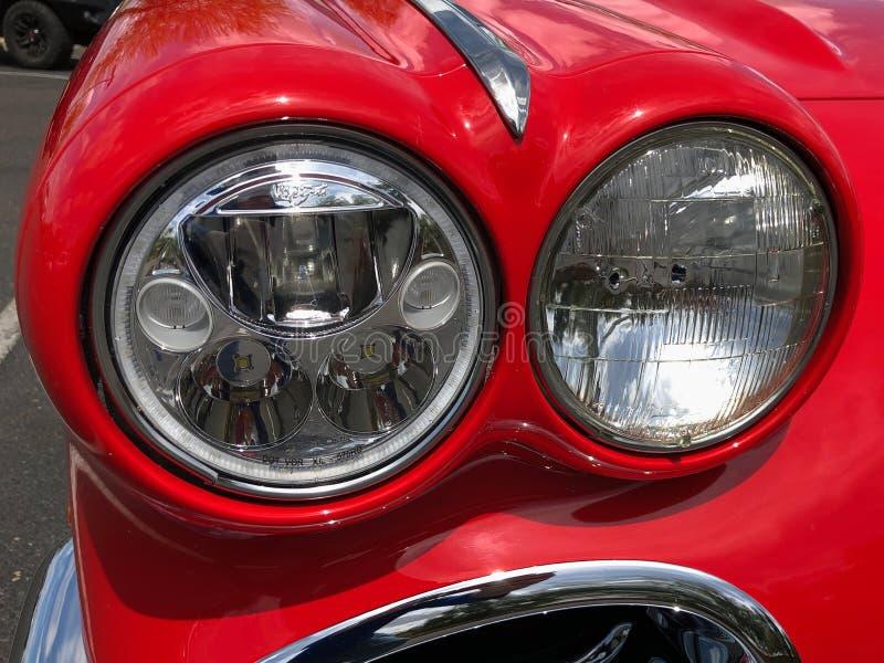 1962 Rot-Korvette-Kabriolett lizenzfreie stockfotos