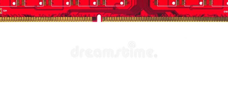 Rot lokalisiertes RAM stockbild