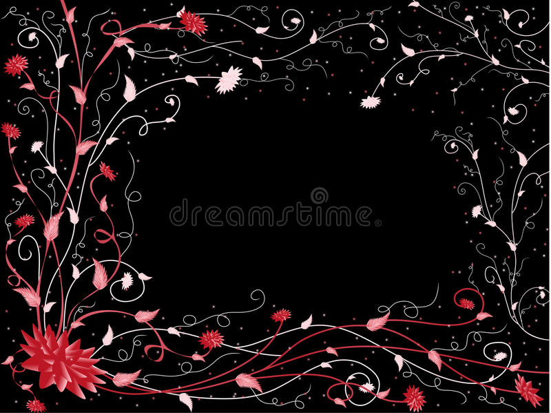 Rot-schwarzes Muster lizenzfreie stockfotos
