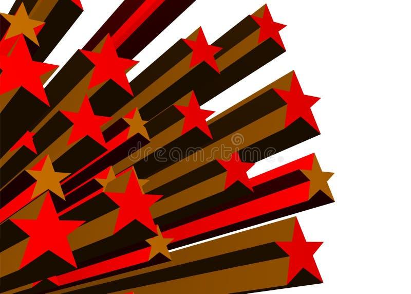 Rot stars Hintergrund lizenzfreie abbildung