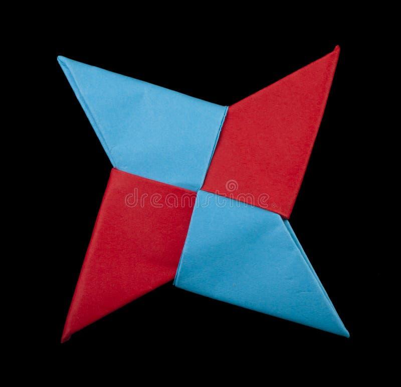 Rot und Blau färbt dekoratives Element stockbild