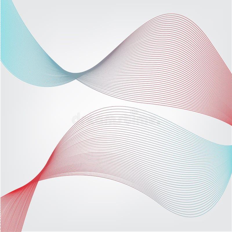 Rot und blauer Mischungszusammenfassungshintergrund stockbilder