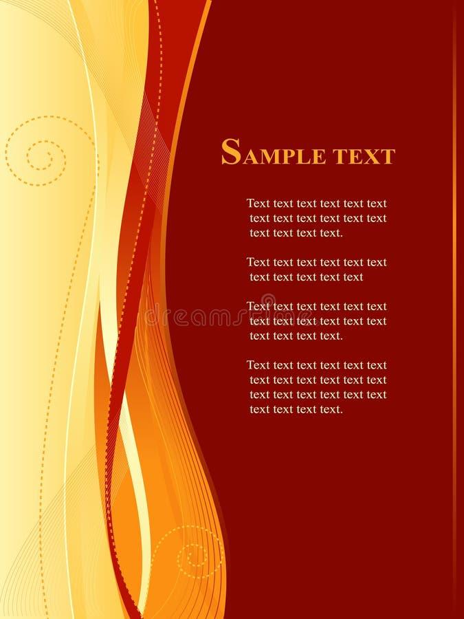 Rot und Goldgeschäft, Web-Schablone stock abbildung