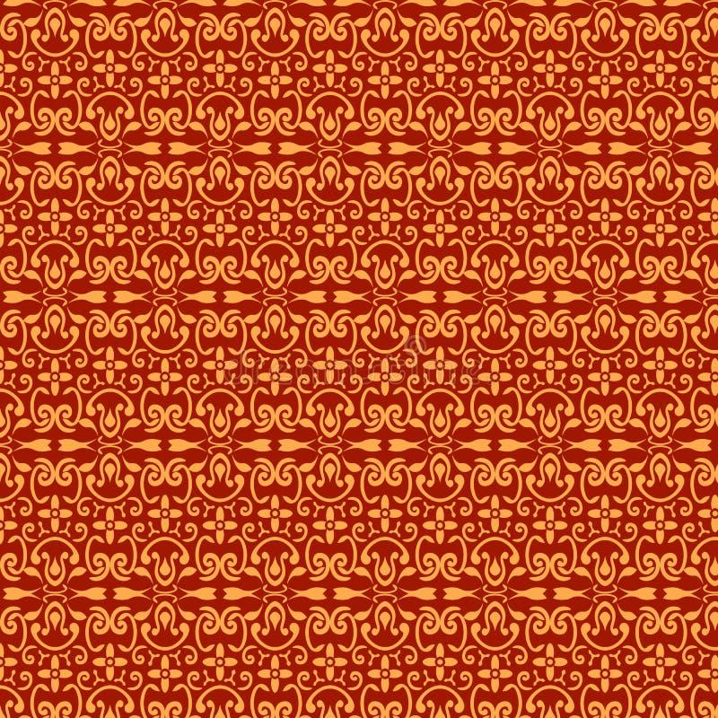 Rot und Goldmuster stockfotos