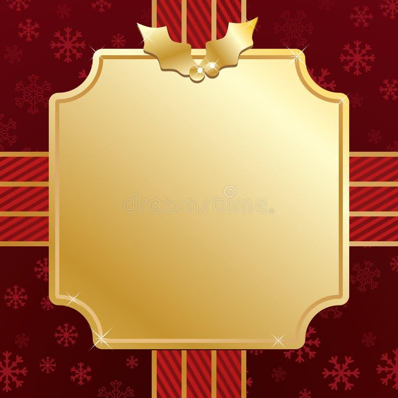 Rot und Goldweihnachten vektor abbildung