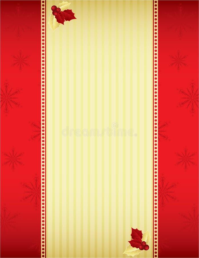 Rot und Goldweihnachtshintergrund lizenzfreie abbildung
