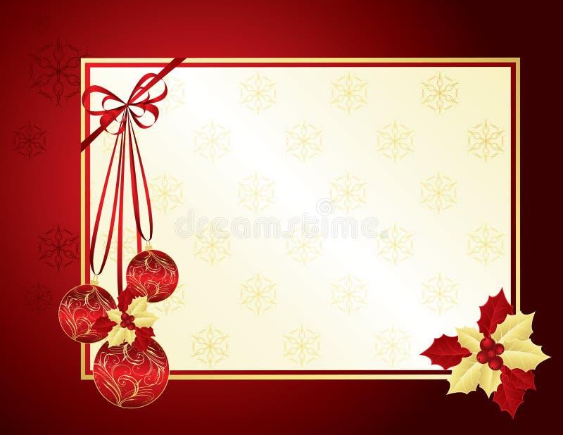 Rot und Goldweihnachtshintergrund stock abbildung