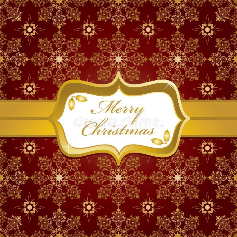 Rot und Goldweihnachtsverpackung stock abbildung