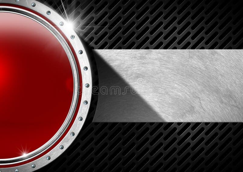 Rot und Metallabstrakter Hintergrund vektor abbildung