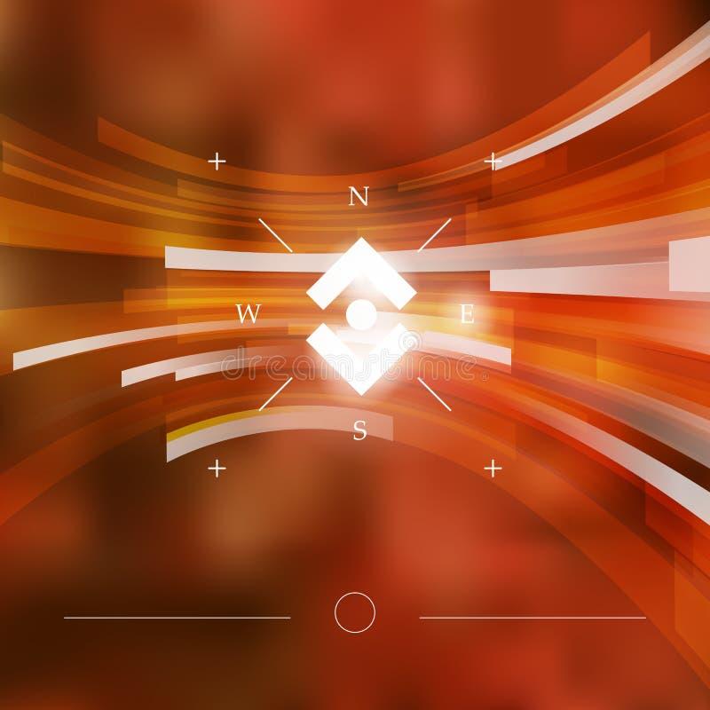 Rot und Orange färbt Efeublattnahaufnahme lizenzfreie abbildung