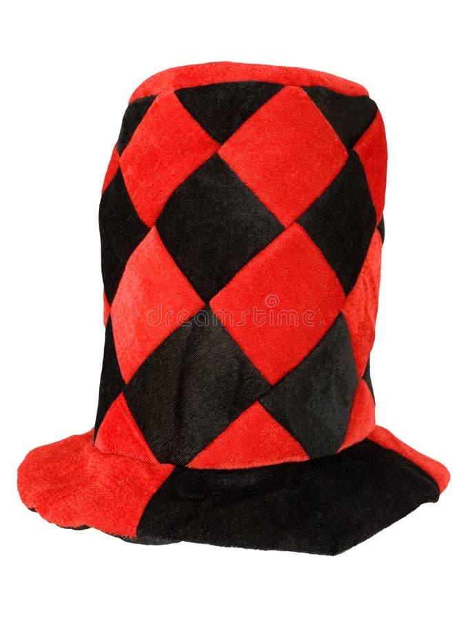 Rot- und Schwarzmaskeradehut lizenzfreie stockbilder