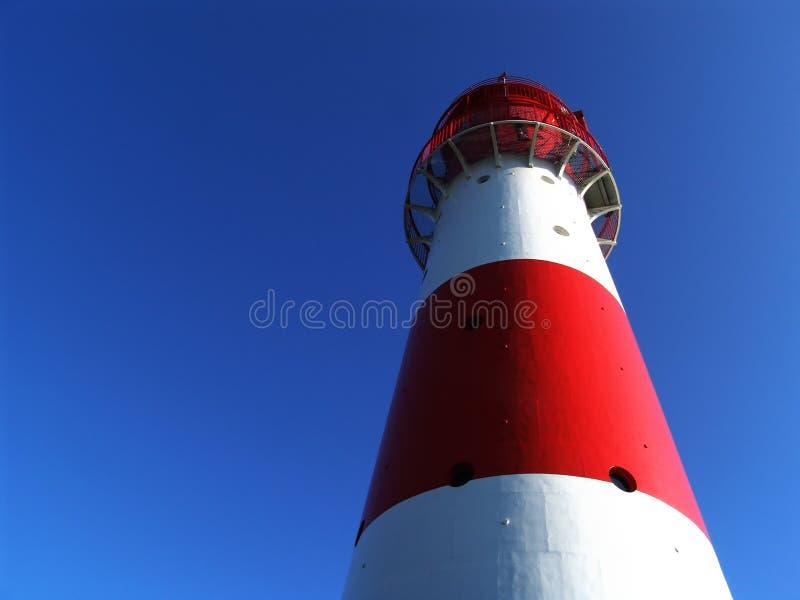 Rot + weißer Leuchtturm 2 lizenzfreies stockbild