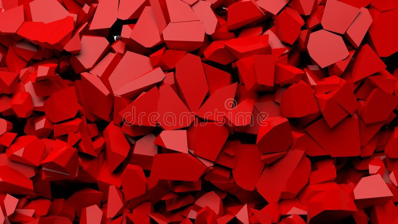Rot zerbrochene Stücke des Steins vektor abbildung