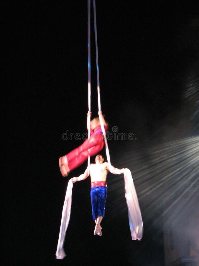 Rotação aérea da noite foto de stock royalty free