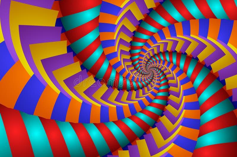 Rotação colorida - imagem do fractal ilustração royalty free