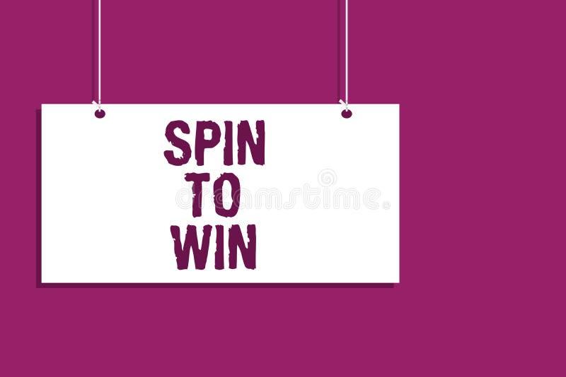 Rotação da escrita do texto da escrita a ganhar Tentativa que do significado do conceito seus jogos de jogo da loteria do casino  ilustração royalty free