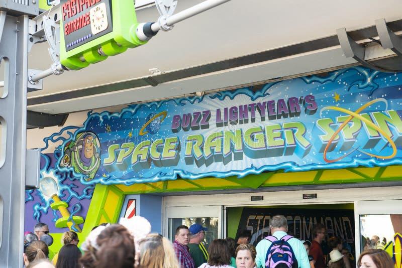 Rotação da guarda florestal do espaço, Disney World, curso, reino mágico fotografia de stock royalty free