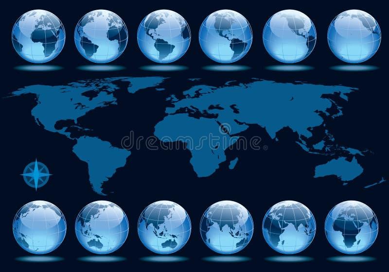 Rotação da terra ilustração stock