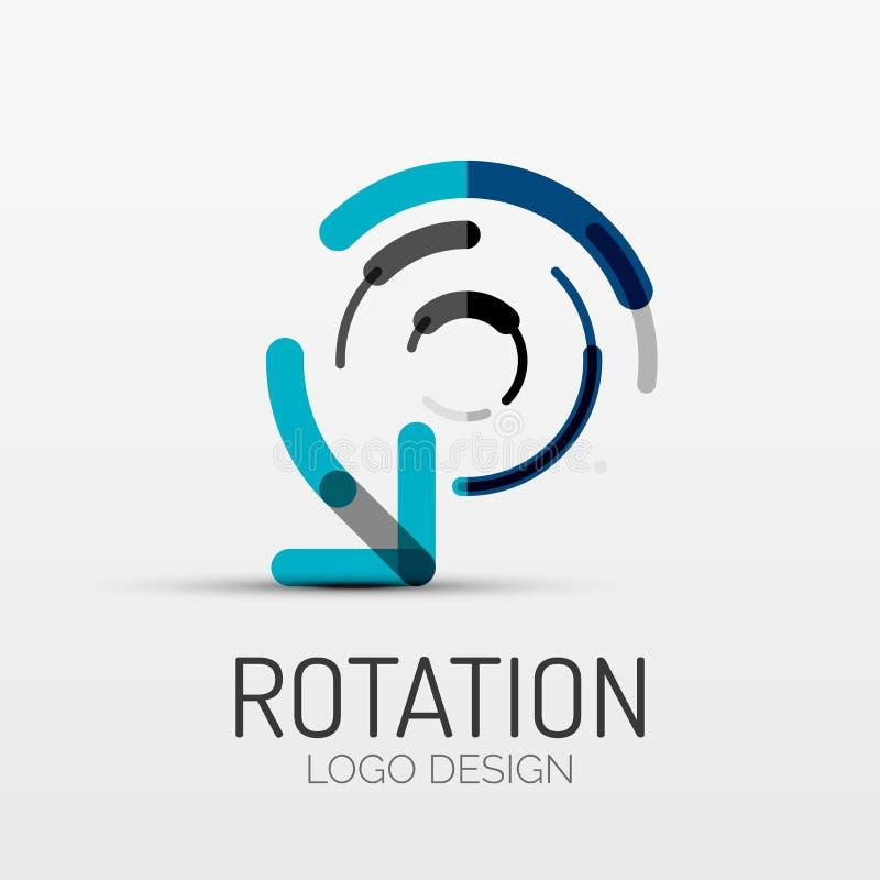 Rotação, logotipo da empresa da seta, conceito do negócio ilustração stock