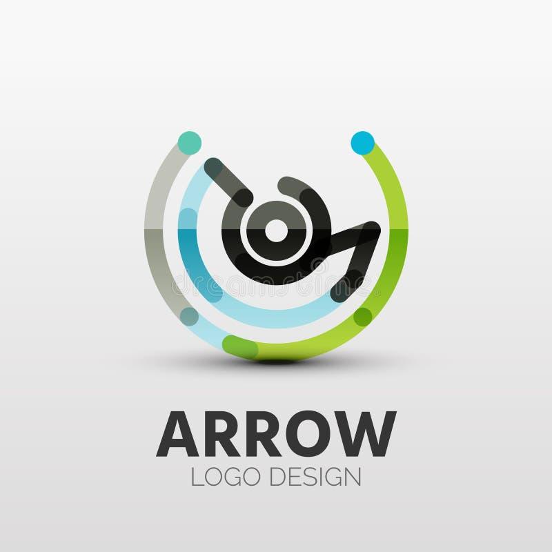 Rotação, logotipo da empresa da seta, conceito do negócio ilustração royalty free