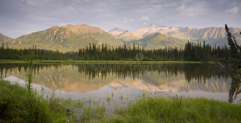 Rota 1 de Alaska fotografia de stock