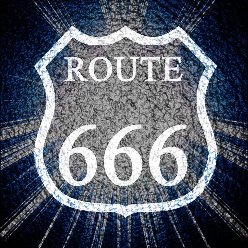 Rota 666 ilustração do vetor