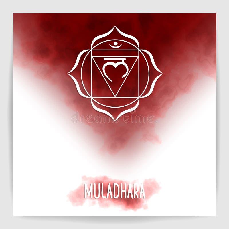 Rota chakraen - Muladhara, först vektor illustrationer