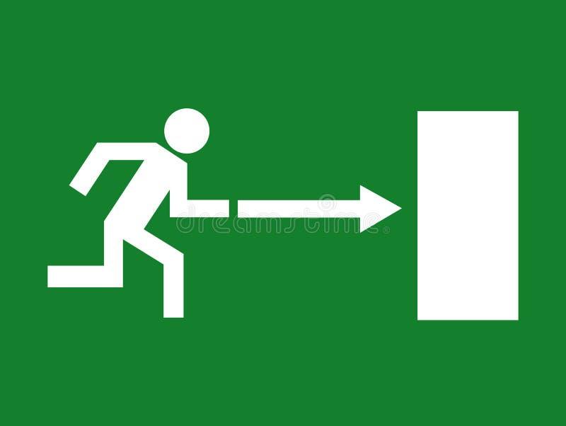 Rota da emergência ilustração do vetor
